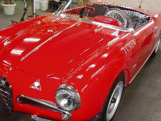 Alfa Romeo ジュリエッタスパイダーのコーティング
